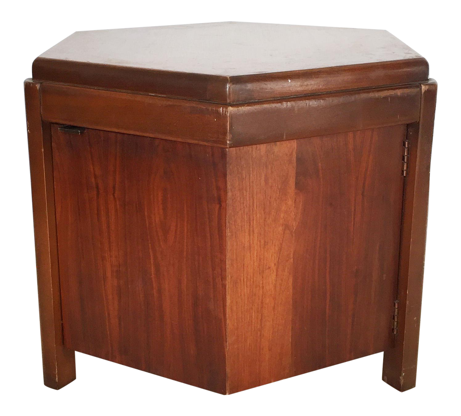 Lane Mid Century Hexagon Storage Side Table   Image 1 Of 6