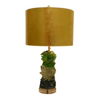 Glass Rock Lamp