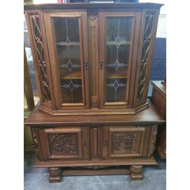 Austrian Hand-Carved Antique China Cabinet - Image 2 of 8