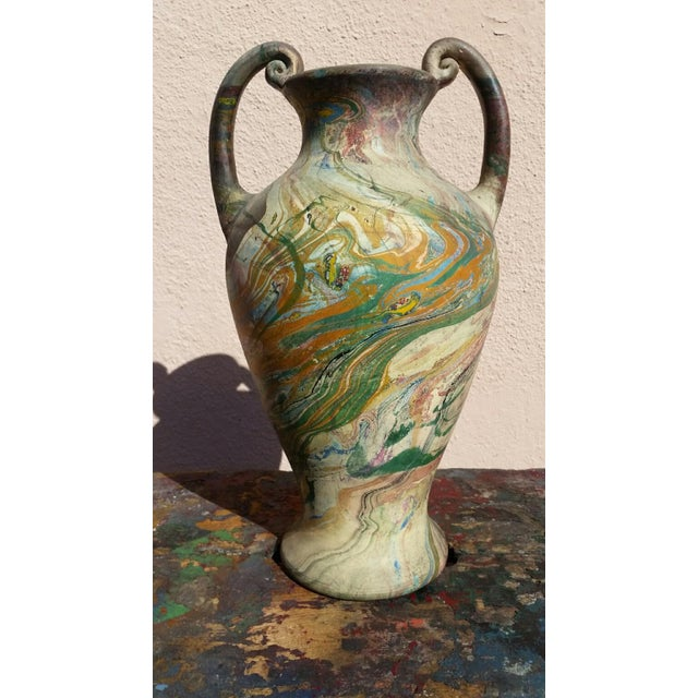 Vintage Marbleized Swirls Urn - Image 2 of 5