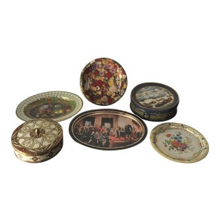 English Daher Tin Collection- Set of 6