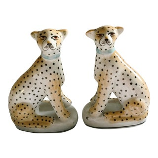 Leopard Bookends - a Pair