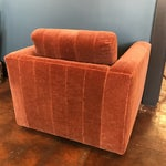 Image of Contemporary Mohair Club Chair