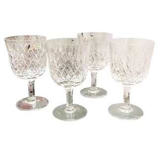 Thomas Webb Crystal Wine Stem Goblets - Set of 4