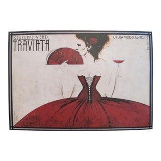 2013 Polish Opera Poster, Giuseppe Verdi's Traviata
