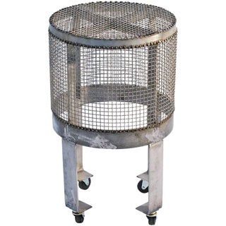 Industrial Steel Cage Table on Wheels by Blackman Cruz