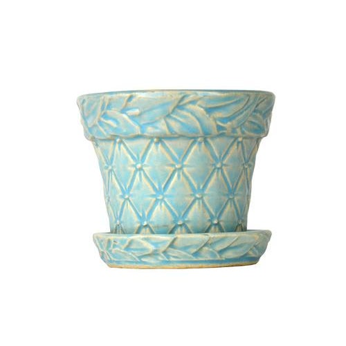 Image of McCoy Vintage Petite Blue Quilted Planter