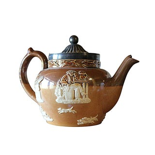 Antique Doulton Lambeth Salt Glazed Teapot