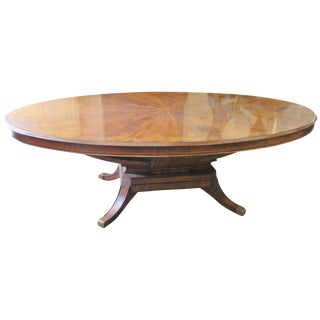 Regency Style Burl Walnut Dining Table