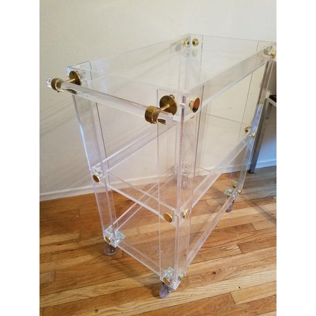 Custom Lucite Bar Cart - Image 2 of 4