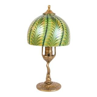 Fish & Art Glass Boudoir Lamp