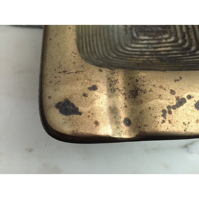 Ben Seibel Brass Square Ashtray - Image 4 of 6