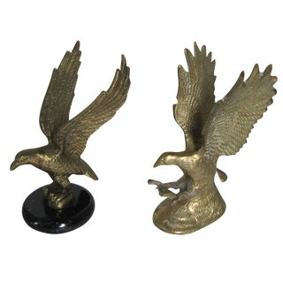 Brass Eagle Figurines - A Pair