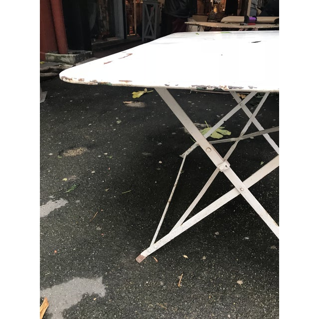 1880 Antique French Folding Garden Table - Image 2 of 5