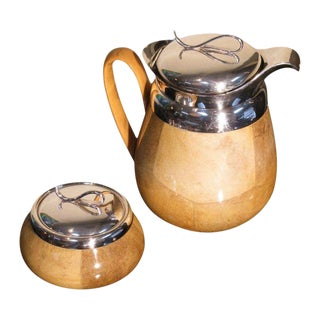 Aldo Tura Carafe & Covered Bowl - A Pair
