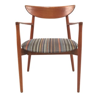Vintage Harry Ostergaard for Randers Møbelfabrik Danish Teak Carver Armchair