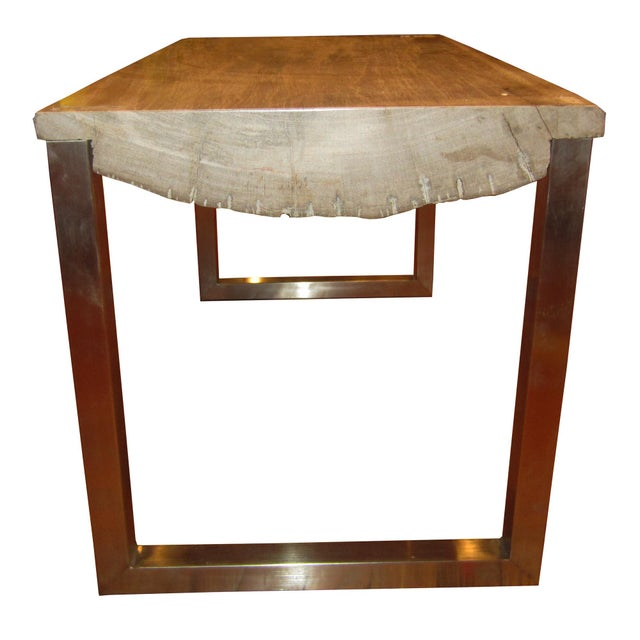 Modern Petrified Wood Slab Coffee Table Chairish