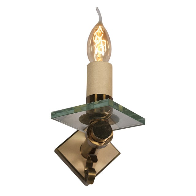 Fontana Arte Style Single Light Sconces - Pair - Image 7 of 7