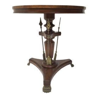 Burl Wood Neoclassical Table