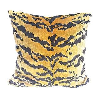Velvet Tiger Striped Pillow
