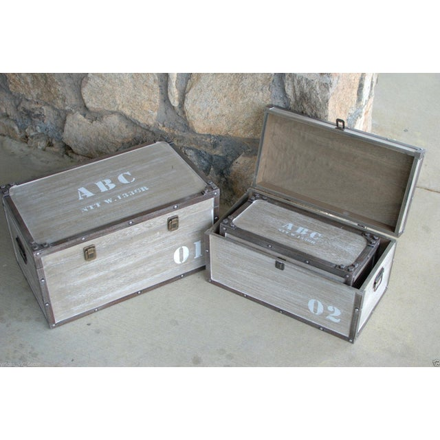 Antique Numbered Wooden Storage Crates - Set of 3 - Image 3 of 3