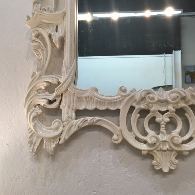 White Lacquered Labarge Pagoda Mirror - Image 2 of 7