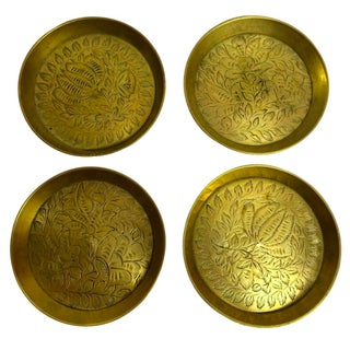 Engraved Brass Coasters