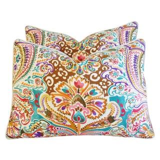 Colorful Designer Cotton & Linen Pillows - APair