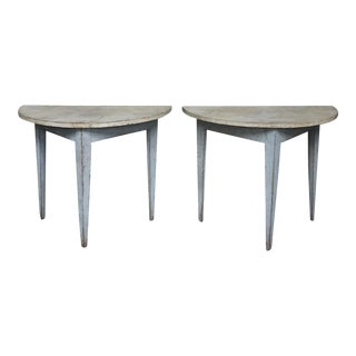 Pair of Swedish Demi-lune Tables (#42-68)