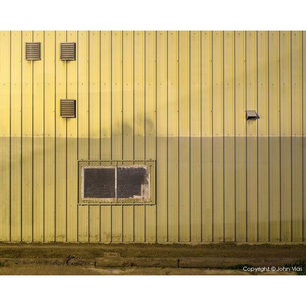 Image of Corrugated Wall - Night Photograph by John Vias