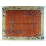 Image of Antique Art Deco Chinese Carpet - 9′3″ × 11′4″