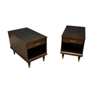 Mid Century End Tables - Pair