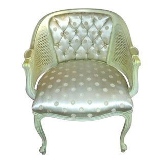 Vintage French Provincial Louis XVI Bergere Chair