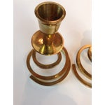 Image of Brass Coil Candlesticks - A Pair
