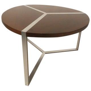 Mid-Century Milo Baughman Style Chrome Frame Dining Table