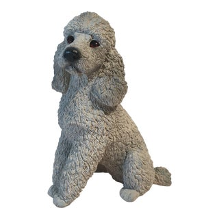 Stone Gray Poodle Statue