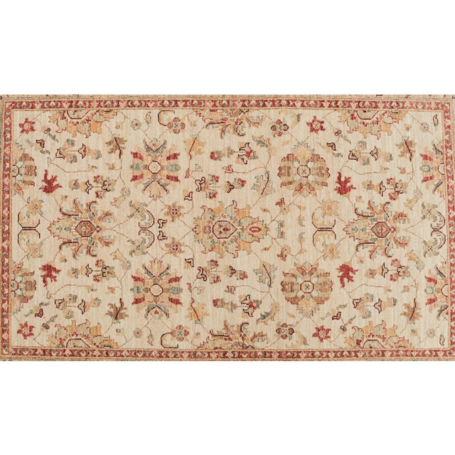 Traditional Pakistani Hand-Knotted Wool Rug - 4′ × 6′ - Image 2 of 4