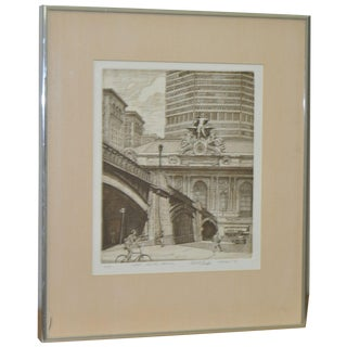 1979 Grand Central Terminal Etching