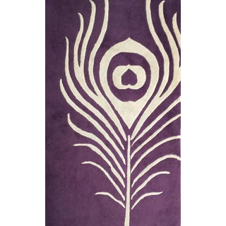 Thomas Paul Purple Feather Rug - 3′ × 5′