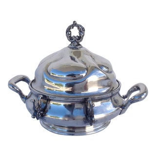 Victorian Silverplate Domed Butter Server