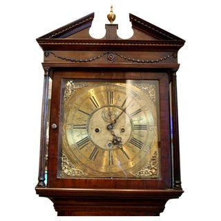 18th Century Irish Georgian Mahogany Tallcase Clock