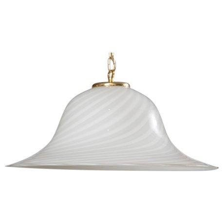 Murano Swirl Glass Dome Pendant Light - Image 1 of 9