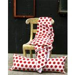 Image of Red Kantha Polka Dot Pillow