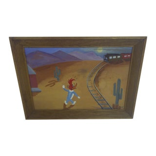 """Woody Woodpecker"" Original 1950's Painting"