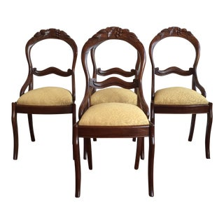 Rococo Revival Style Chairs - Set of 4