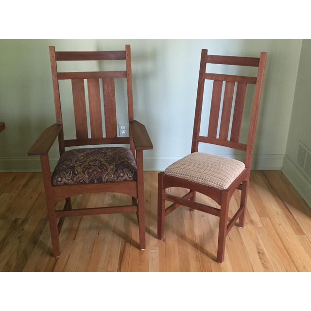 Stickley Mission Cherry Dining Table Amp 8 Chairs Chairish