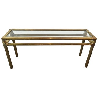 Mastercraft Brass and Glass Console