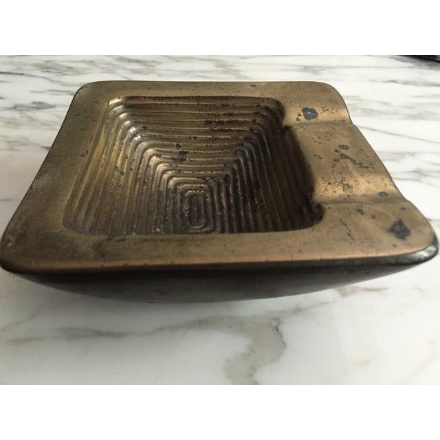 Ben Seibel Brass Square Ashtray - Image 5 of 6