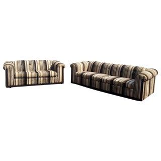 Mid-Century Rowe Low Profile Sofa & Loveseat -Pair