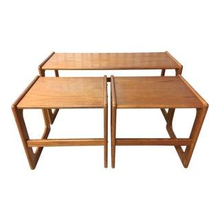 Vintage Modern Danish Nesting Tables - Set of 3